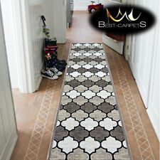 """Thick & Very Soft Hall Runner beige """"YAZZ"""" width 80 cm extra long stairs RUGS"""