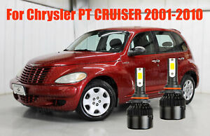 LED PT CRUISER 2001-2010 Headlight Kit 9006 HB4 6000K White CREE Bulbs Low Beam