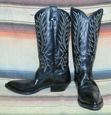 Womens Vintage Nocona Black Leather Cowboy Boots 7 B Excellent Condition