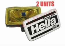 Pair Hella Comet 450 Spot Driving Yellow Light With Cover & H3 Bulb 55W 12V CAD