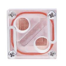 "G 1/4"" Acrylic Transparent Northbridge Waterblock PC CPU Water Liquid Cooling"