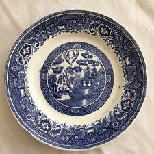"""Antique BLUE WILLOW Villeroy & Boch Wallerfangen Saan-Basin 6"""" Bread Plate"""