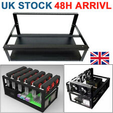 More details for 6 8 gpu steel open air miner frame mining rig case crypto coin currency bitcoin.