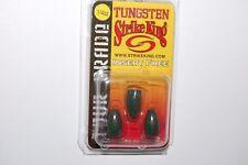 strike king tungsten worm weights 1/4oz watermelon red flak tour grade tgtw14-18