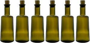 6 x 250ml Ölflaschen - Ideal für Öl & Essig Flasche - Leere Glasflaschen - NEU