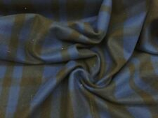 """Navy Black Plaid Wool Fabric - Sold By The Yard - 60"""""""