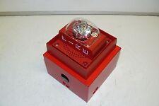 SIEMENS S-LP70-S75 FIRE PROTECTION ALARM STROBE UNIT 75 CANDELA W/ MOUNTING BOX