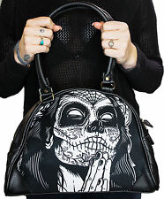 Liquorbrand Gypsy 4 Praying Day of the Dead Woman Tattoo Skull Handbag Purse