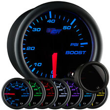 GlowShift 52mm 7 Color Diesel Boost 60 PSI Truck Gauge Kit w. Smoked Lens