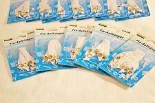 6, 9, 12 oder 15 Fix-Aufhänger Handtuchaufhänger mit Stoff Speer nähfrei