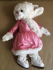 Barbara Bukowski Design Kuscheltier Teddy Eislaufen Winter Pink Kleid NEU