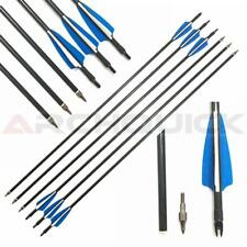 "New 25x 31.5"" Fiberglass Arrows 15-50lbs Removable Tip Compount & Recurve bow"