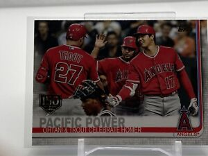 """2019 TOPPS UPDATE SERIES SHOHEI OHTANI / MIKE TROUT """"PACIFIC POWER"""" CARD #US189"""