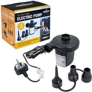 Electric Air Pump Inflator/Deflator for airbeds, paddling pools & toys AC240V