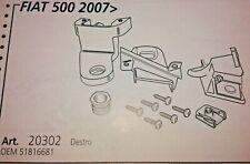 Fiat 500 dal 2007> Kit Riparazione Proiettore Faro Dx Staffe Ricambio + Viti