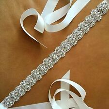 Crystal Bridal Belt Wedding Dress Sash Rhinestone Beaded Sash Bridesmaid Belt