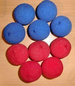 Clownsnasen Clown Nase Karneval Fasching Rot, Schwarz oder Blau Neu Red Nose Day