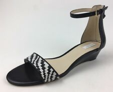 Cole Haan Women's Genevieve Weave WDG Wedge Sandals, Black Leather, Size 8B  307