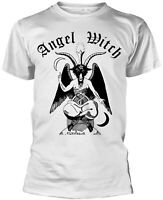 ANGEL WITCH Baphomet WHITE T-SHIRT OFFICIAL MERCHANDISE