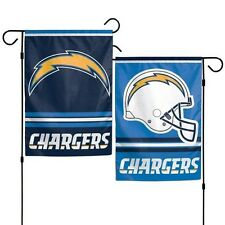 "Los Angeles Chargers Double Sided Garden Flag 12""X18"" Yard Banner Outdoor Rated"