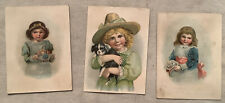 3 Vintage Victorian Trade Cards Orange County New York NY Furniture Girl Dog