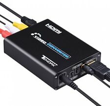 Tendak 3RCA AV CVBS Composite and S-Video R/L Audio to HDMI Converter Upsc