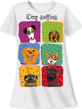 "Relevant nightshirt ""Dog Selfies""cotton sleeper one size"