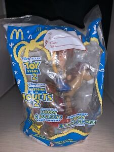 1999 McDonald's Disney Pixar Toy Story 2 Woody & Bullseye Candy Dispenser-NRFP