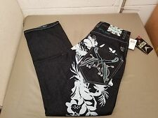 NWT ARTFUL DODGER Distressed Embroidered Pocket Denim Jeans Size 30 Retail $140.