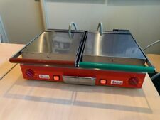 More details for commercial sandwich panini grill - heavy duty - industrial double grill