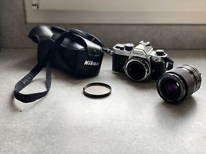 Vintage NIKON FM2 + Lens Objectif TAMRON CF macro Appareil Photo Camera Vintage