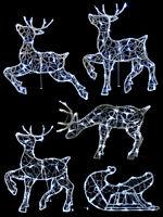Christmas Light Up Reindeer 56cm Outdoor Decoration Garden LED Standing Prancing