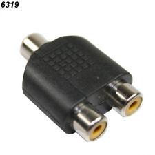 Adaptateur audio RCA femelle Vers 2x RCA Femelle