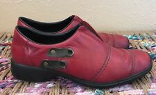 RIEKER Antistress Red Leather Loafers Ankle Boots Shoes Women's Size 40 / 8.5-9