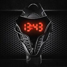 Cobra Orologio Sportivo Nero da Uomo Led Digitale Triangolo Quadrante Silicone