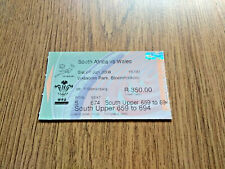 More details for south africa v wales 1st test 2008 used rugby ticket