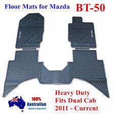 Grey Rubber Waterproof Floor Mats Customized for Mazda BT-50 Dual Cab 11 - 2018