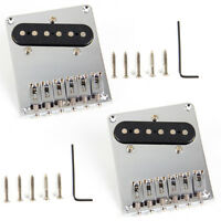 2 Electric Guitar Chrome 6 Saddle Bridge Pickup for Fender Tele Telecaster Parts