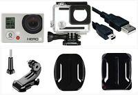 Used GoPro HERO 3 White 1080P 5MP HD Camera Camcorder Wi-Fi waterproof Case USA
