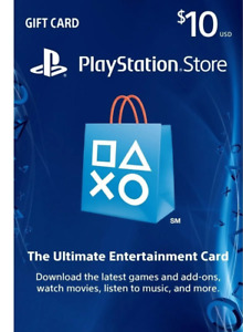 PlayStation Network Gift Card $10 USD - PSN Store Card - PS3/ PS4/ PS Vita - U