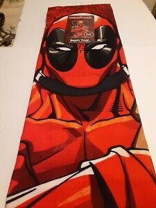 "Marvel Deadpool Movie Licensed Beach Towel Super Soft 27""x54"" Original New"