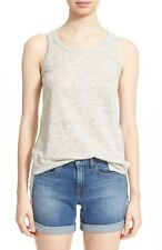 Vince Linen Drape Tank Top Shirt Grey Gray Size Small  $85