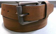 757703 MSBLT20 Men's Belt Size 36 Dark Tan Leather Johnston & Murphy