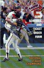 1992 ATLANTA BRAVES GAME SCHEDULE & TICKET ORDER FORM-NATIONAL LEAGUE CHAMPIONS