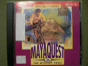 MECC SOCIAL STUDIES MAYAQUEST: THE MYSTERY TRAIL CD-ROM AGES 10-16