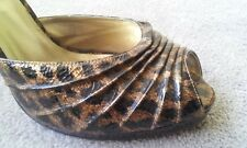 Used In Very Good Condtn Steve Madden High Hill Tiger Killer Shoes Women's Sz 9