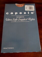 CAPEZIO Women's ULTRA SOFT SUPPLEX Sun Tan TIGHTS L/XL New EXERCISE Dance L XL
