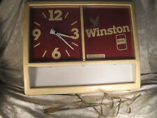 Vintage Large Winston Cigarette's Lighted Display Clock Sign
