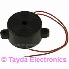 1 x Piezo Electronic Tone Buzzer Alarm 3-24V 12VDC Mounting Holes  FREE SHIPPING