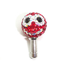 Red Smile Swarovski Cellphone Earphone Jack Plug